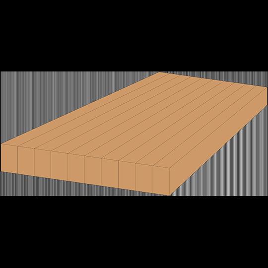 3D Style - Edge Grain Countertop