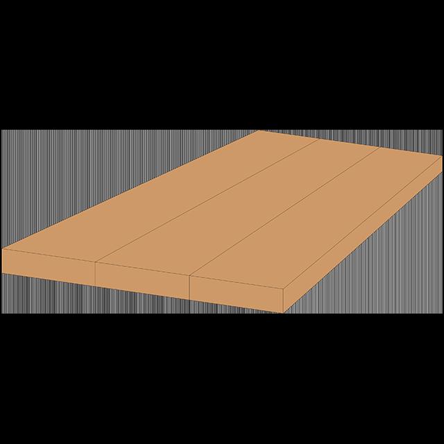 3D Style - Wide Grain Countertop
